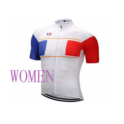 Outdoor Cycling World Store Short Sleeve Jersey S / Female France Cycling Jersey