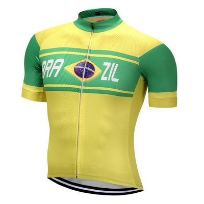Outdoor Cycling World Store Short Sleeve Jersey S / Male Brazil Cycling Jersey
