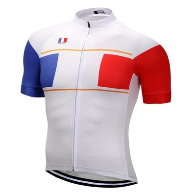 Outdoor Cycling World Store Short Sleeve Jersey S / Male France Cycling Jersey