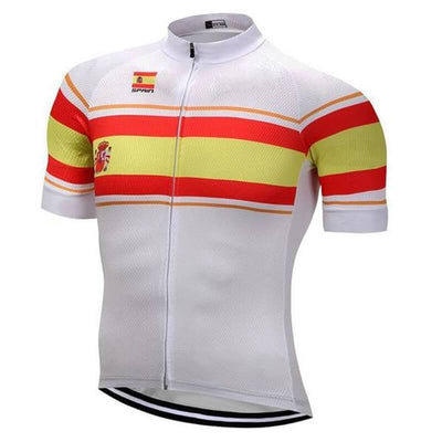 Outdoor Cycling World Store Short Sleeve Jersey S / Male Spain Cycling Jersey (V4)