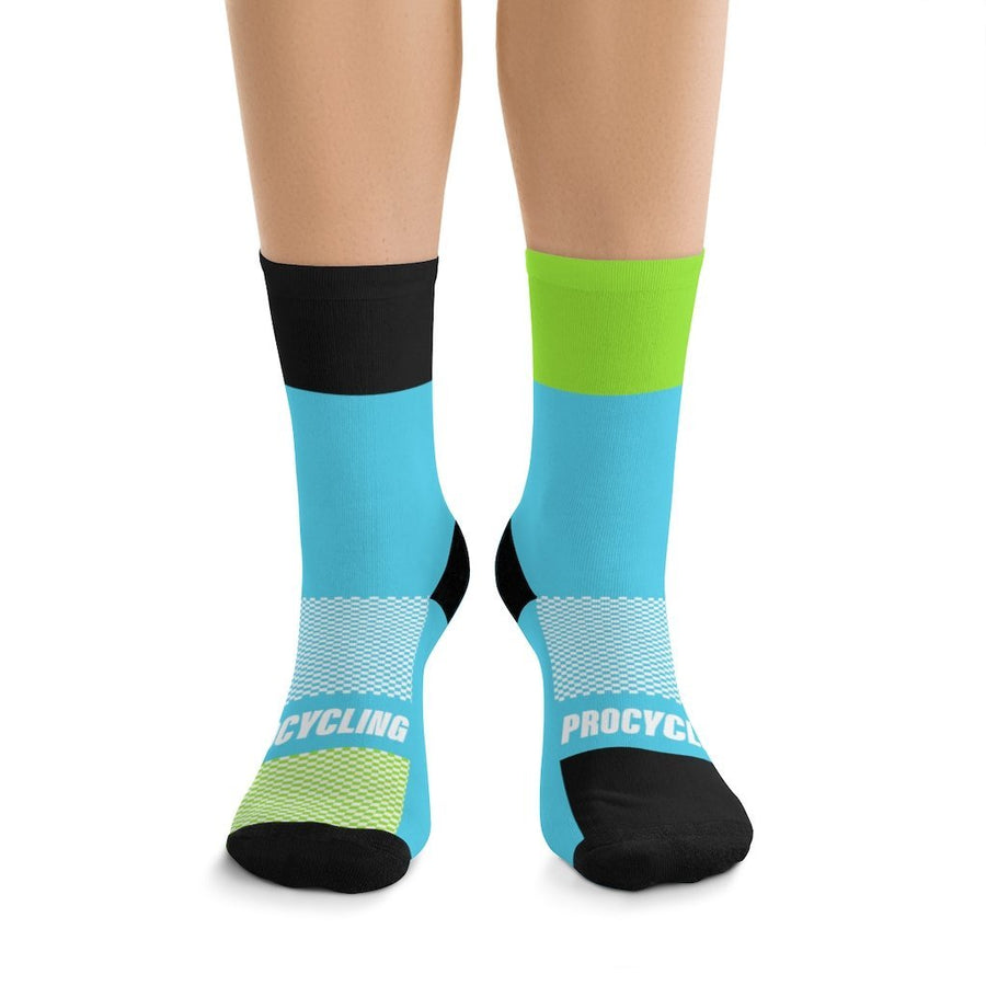 Printify All Over Prints One size Black & Green Highlight Blue Socks
