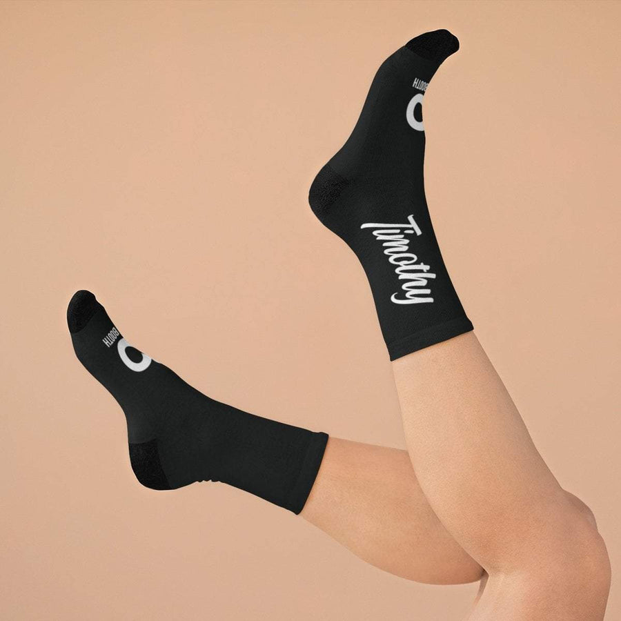 Printify All Over Prints One size Black Personalized Signature Socks