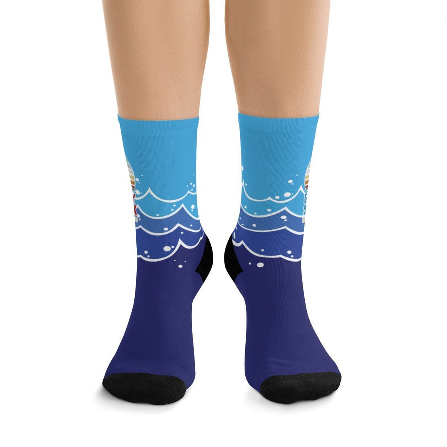 Printify All Over Prints One size Daddy Shark Sports Socks