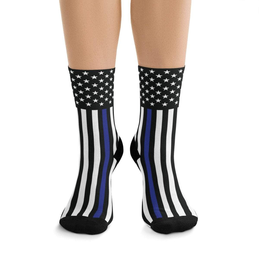 Printify All Over Prints One size The Thin Blue line Sports Socks