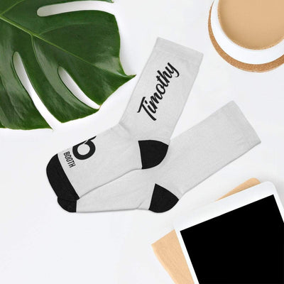 Printify All Over Prints One size White Personalized Signature Socks