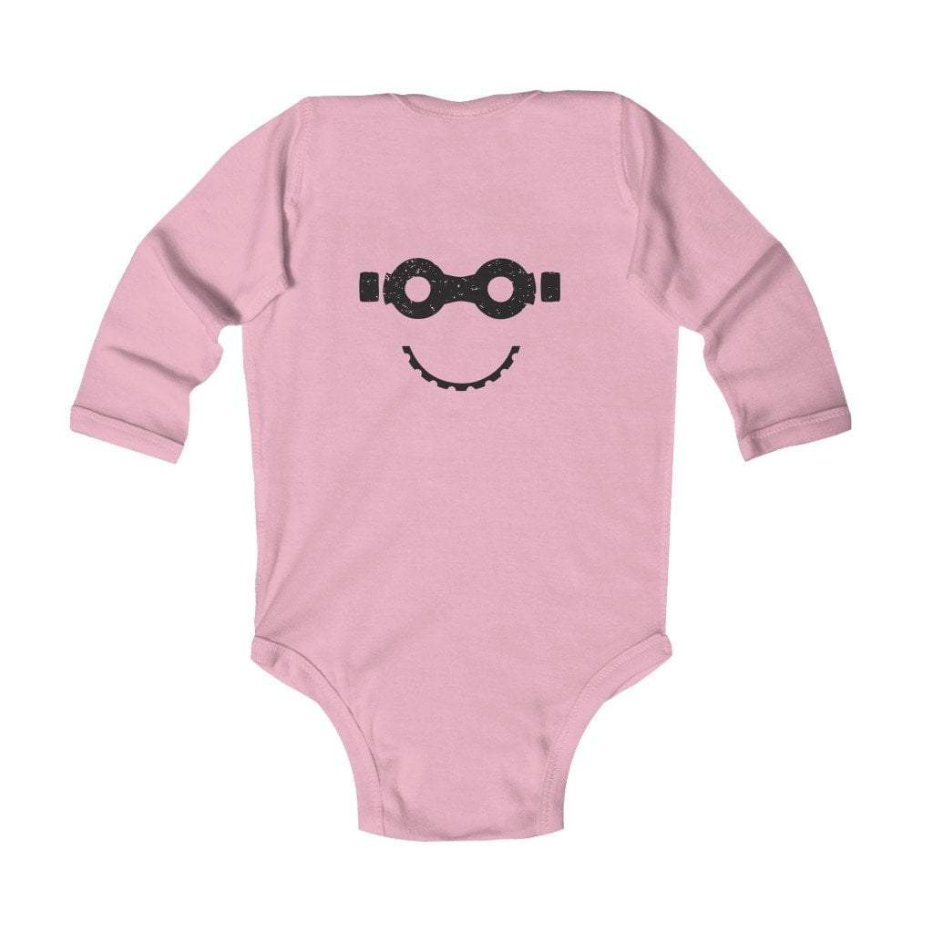 Printify Kids clothes Pink / 18M Bike Mask Infant Long Sleeve Bodysuit