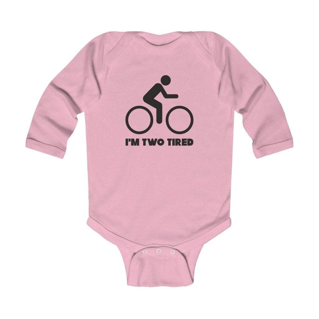 Printify Kids clothes Pink / 18M I'm two tired Infant Long Sleeve Bodysuit