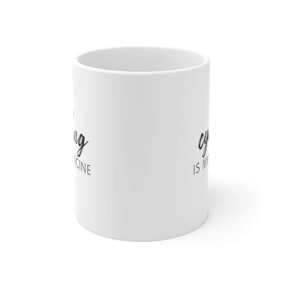 Printify Mug 11oz Cycling is my medicine