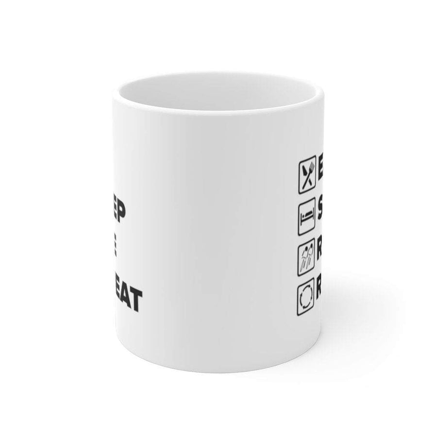 Printify Mug 11oz Eat Sleep Ride Repeat