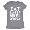 teelaunch T-shirt Next Level Ladies Triblend / Heather Grey / S Mens & Womens - Eat Sleep Bike Repeat T Shirt
