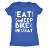 teelaunch T-shirt Next Level Ladies Triblend / Vintage Royal / S Mens & Womens - Eat Sleep Bike Repeat T Shirt