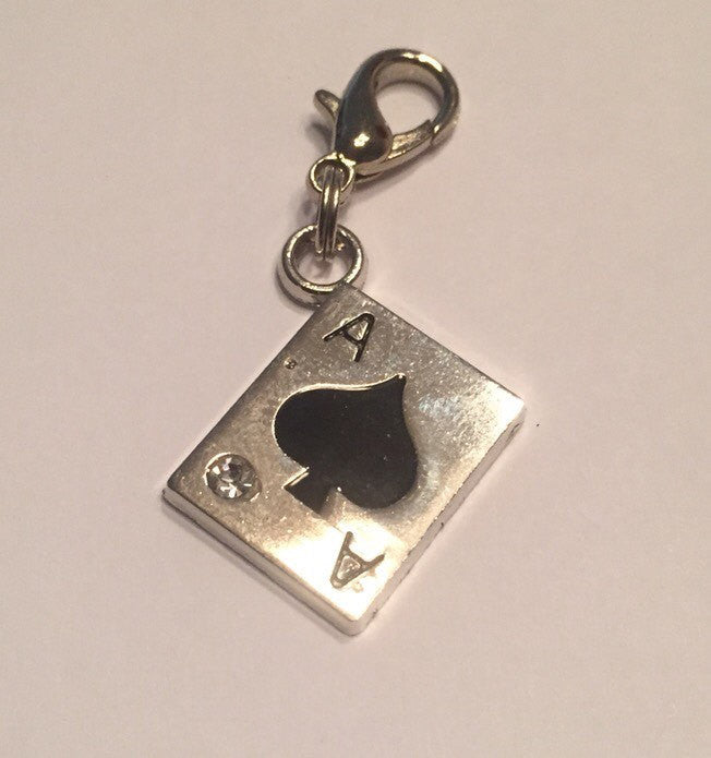 Ace of Spade Charm - KJ Creations