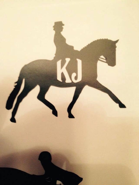 Dressage Extended Trot Decal (side view) - KJ Creations
