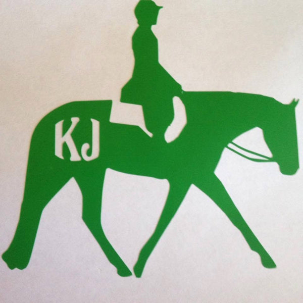 Huntseat horse Decal (side view) - KJ Creations