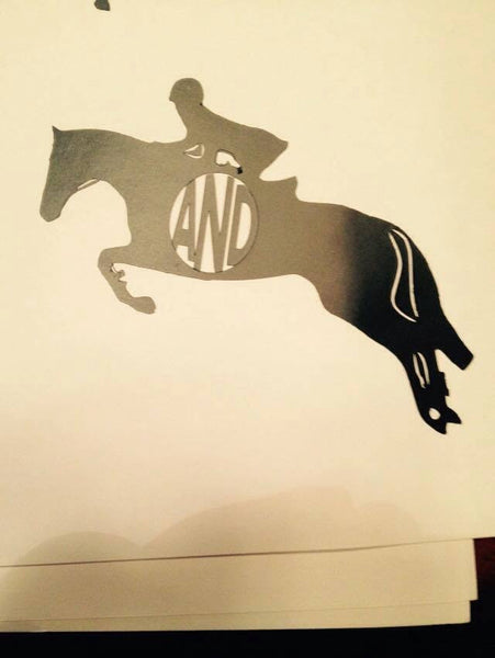 Equitation  horse Decal (side view) - KJ Creations