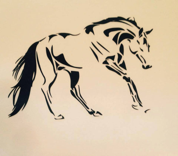 Turnout play  Horse Decal - KJ Creations