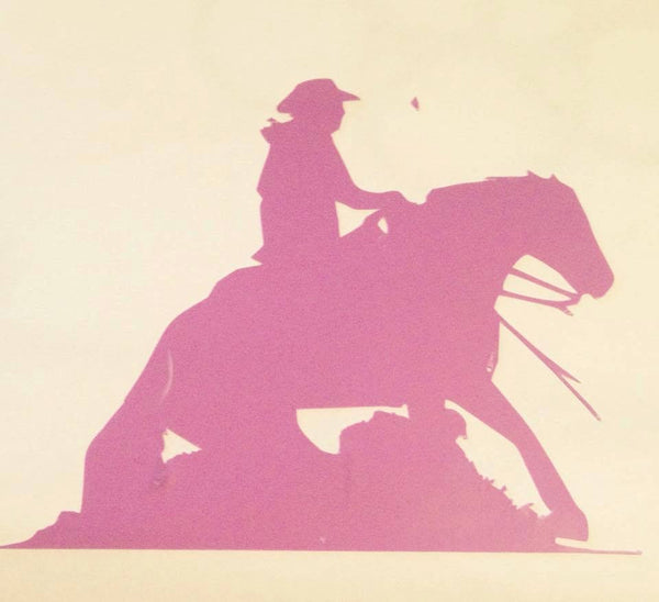 Reining Horse Decal - KJ Creations