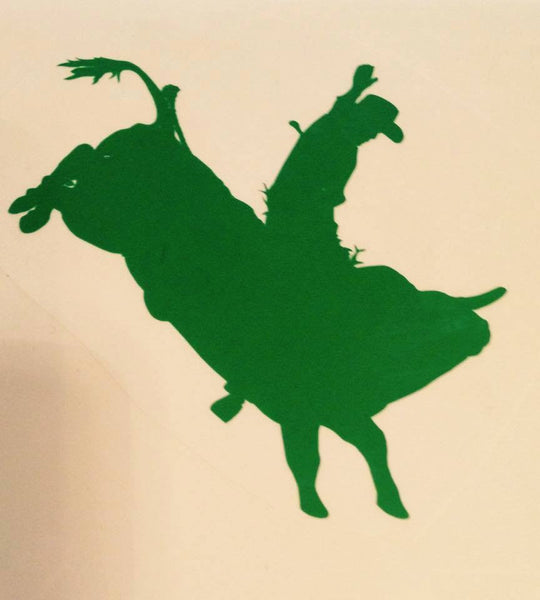 Bull Rider Decal (side view) - KJ Creations
