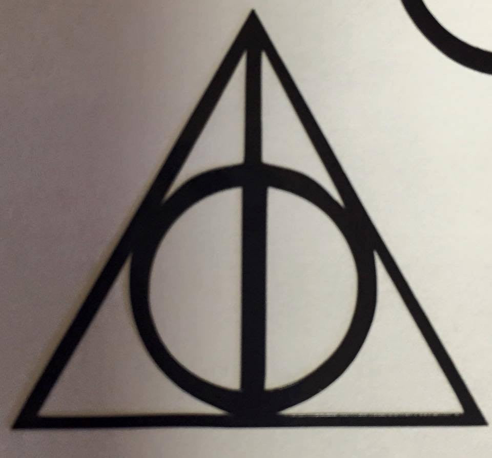 Harry Potter Deathly Hollows Decal - KJ Creations