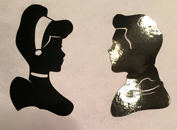 Dynamic Duo Cinderella & Charming  Decal - KJ Creations