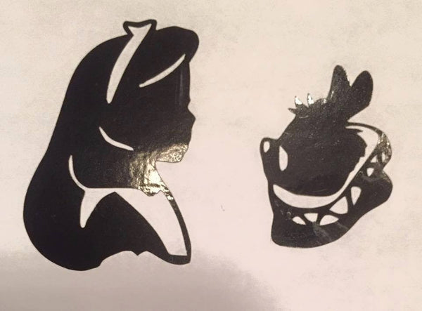 Dynamic Duo Alice & the White Rabbit Decal - KJ Creations