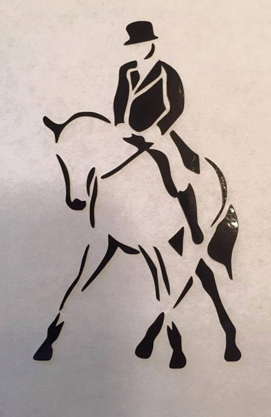 Dressage Half Pass Decal - KJ Creations