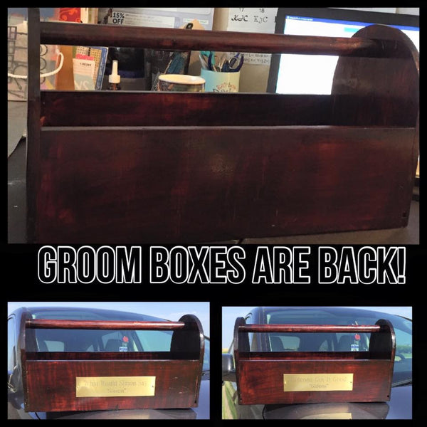 Wooden Groom box - KJ Creations