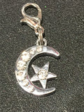 Moon & Star Charm - KJ Creations