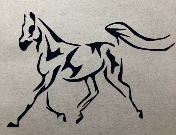 National Show horse trot Decal