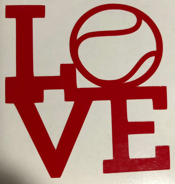 LOVE Tennis Decal