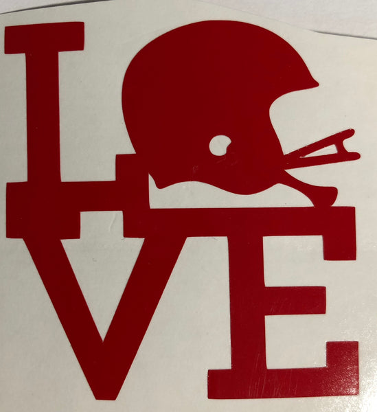 LOVE Football Decal