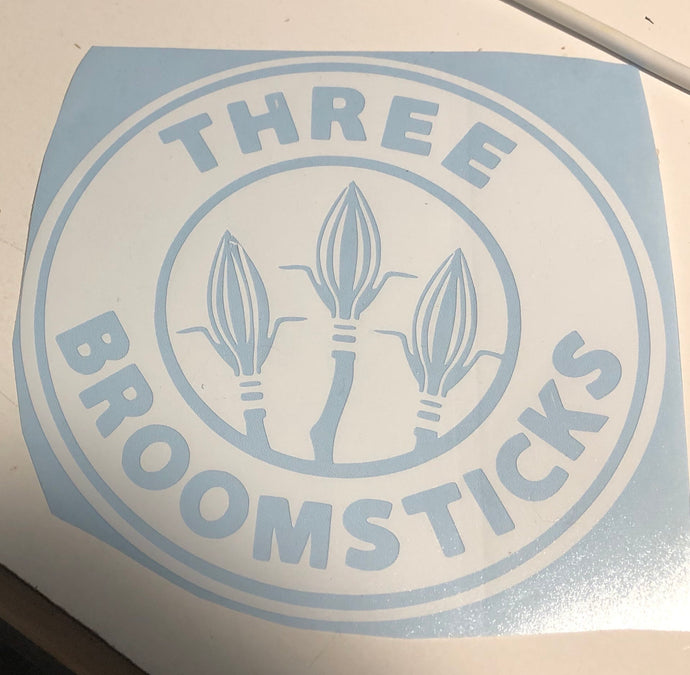 HP 3 Broomsticks Coffee Co Decal