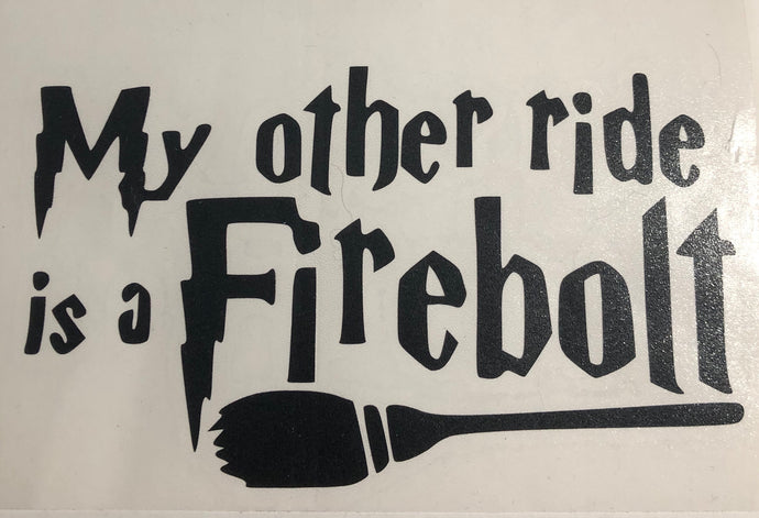 HP Firebolt Decal
