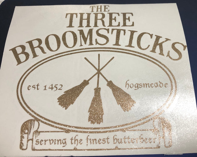HP Inspired  3 Broomsticks Logo Decal
