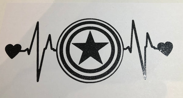 Marvel Inspired CA shield heart line