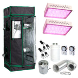 "48x48x80"" Grow Tent Kit  600w LED Light & Fan + Carbon Filter Combo 4'x4'"