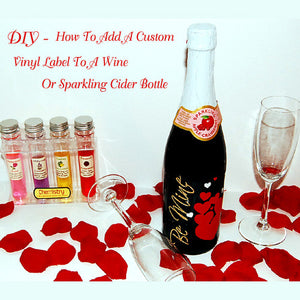DIY - How to add your own custom label to a wine bottle