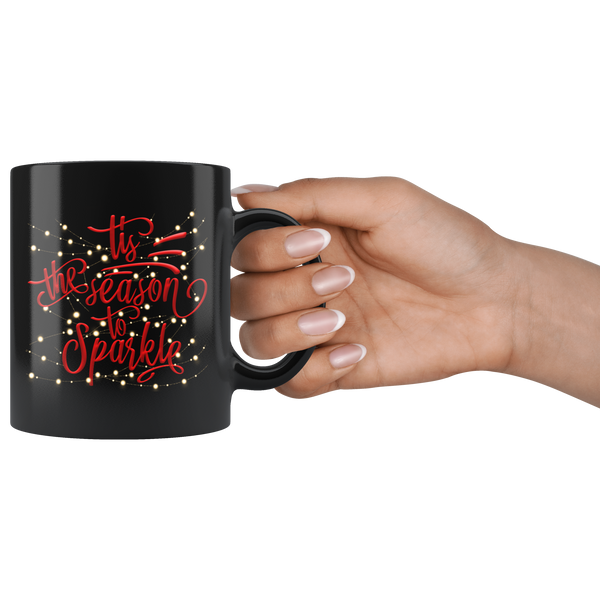 Christmas Mug | Tis The Season To Sparkle Mug-Drinkware-TD Gift Solutions.com