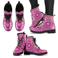 Pink Boots | Pink Mandala Handcrafted Boots-Custom Boots-TD Gift Solutions.com