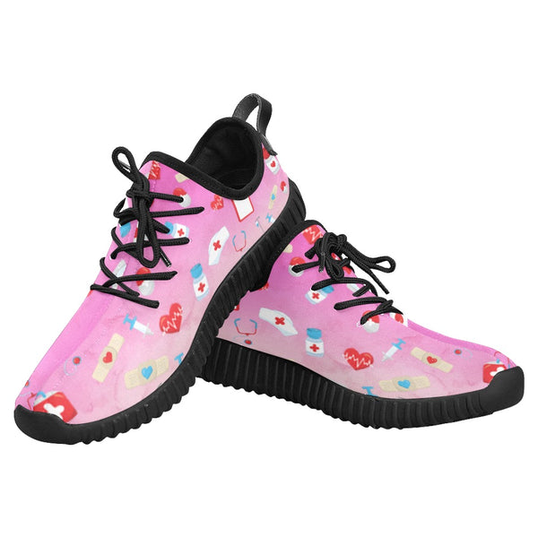 Nurse Sneakers | Cotton Candy Grus Women's Breathable Printed Nurse Sneakers-Grus Women's Running Shoes (022)-TD Gift Solutions.com