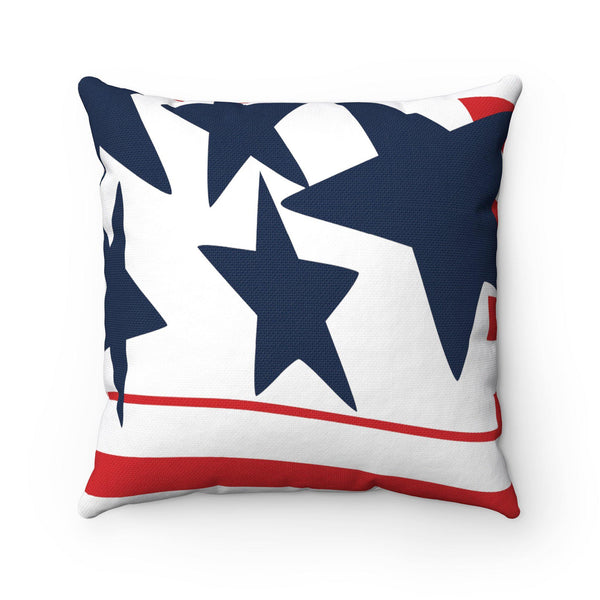 Stars and Stripes Spun Polyester Square Pillow - TD Gift Solutions.com