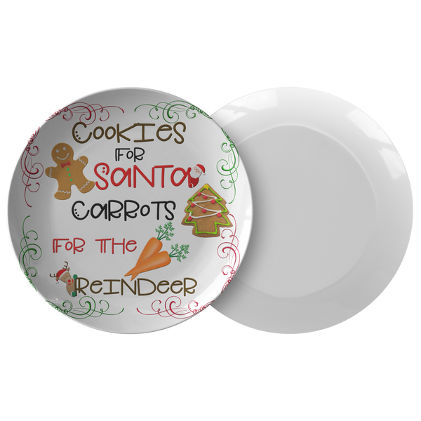 Cookies For Santa Carrots For The Reindeer | Leave Cookies For Santa | Santa Cookie Plate - TD Gift Solutions.com