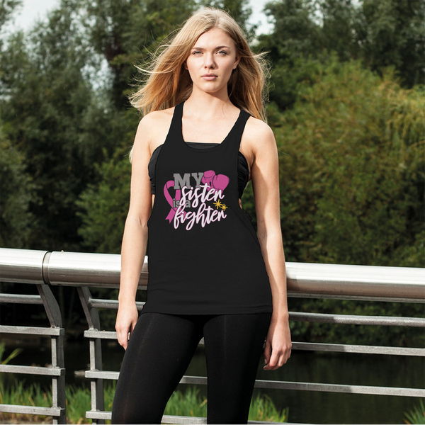 My Sister Is A Fighter 2 Women's Loose Racerback Tank Top-Racerbank Tank Tops-TD Gift Solutions.com