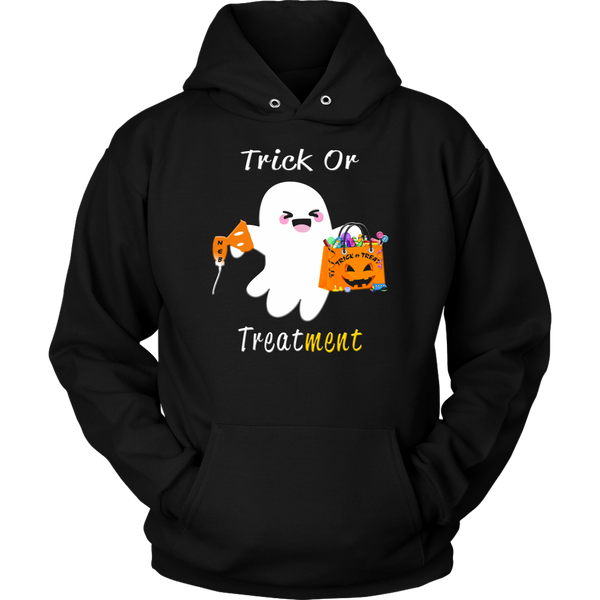Halloween Respiratory Therapy Gifts | RT Trick or Treatment Hoodie-T-shirt-TD Gift Solutions.com