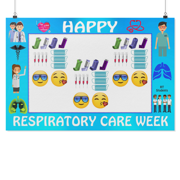 Respiratory Therapist | Respiratory Care Week Photo Frame With Selfie Props - Photo Booth Frame