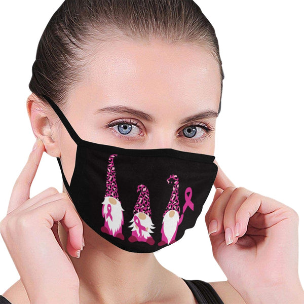 Stylish Face Masks | Gnomes Breast Cancer Mask (2 Filters Included)-Fabric Mouth Mask (Non-medical Products)-TD Gift Solutions.com