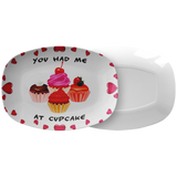 Valentines Day Decor | You Had Me At Cupcake Valentine Platter-Dinnerware-TD Gift Solutions.com