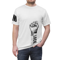 Black Lives Matter Black Text Unisex T-Shirt-All Over Prints-TD Gift Solutions.com