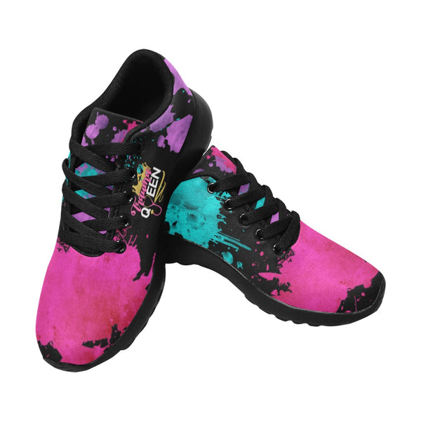 Printed Nurse Sneakers | Trauma Queen Paint Splatter Nurse Sneakers-Women's Running Shoes (020)-TD Gift Solutions.com