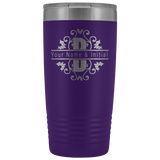 Tumbler Cups | 20oz Personalized Split Monogram Tumbler Cup-Tumblers-TD Gift Solutions.com